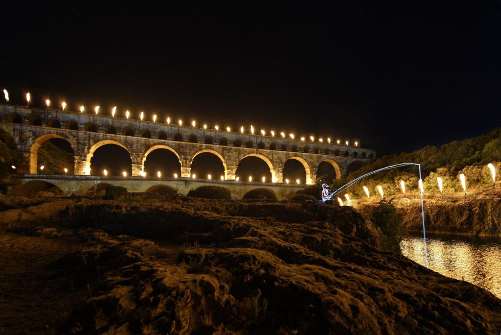 Feuerwerk am Pont du Gard 2018 – Foto Groupe F, T. Nava