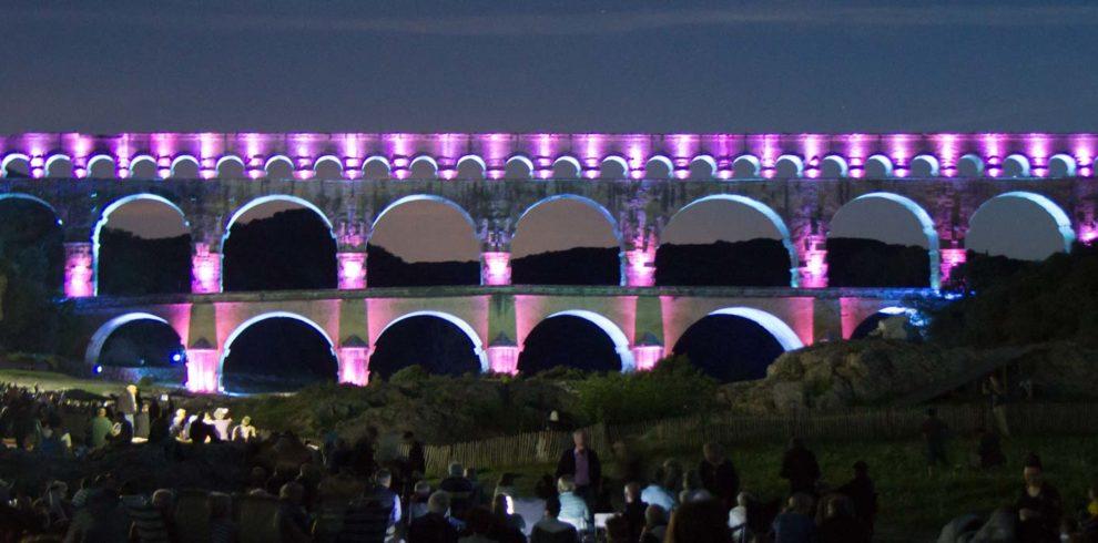 Feuerwerk Pont du Gard Kultureventreise