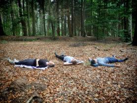 Waldbaden in der Gruppe