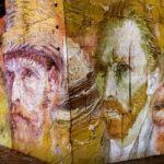 große Van-Gogh-Porträts illuminiert