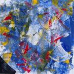 Abstraktes Gemälde von Ulrike Stausberg, Kreativ-Wandertour