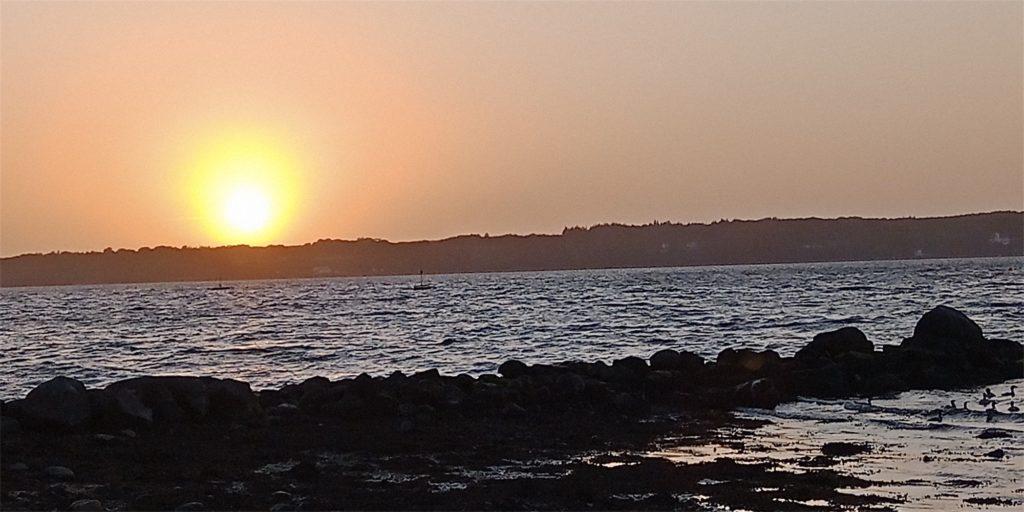 Sonnenuntergang am Fördesteig